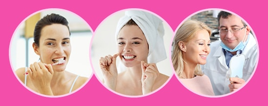 Good oral health can prevent breast cancer. Good oral hygiene includes brushing, flossing, and dental visits