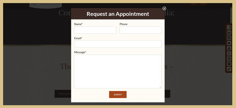 Convenient contact forms on the new website of our dentist in Columbia.