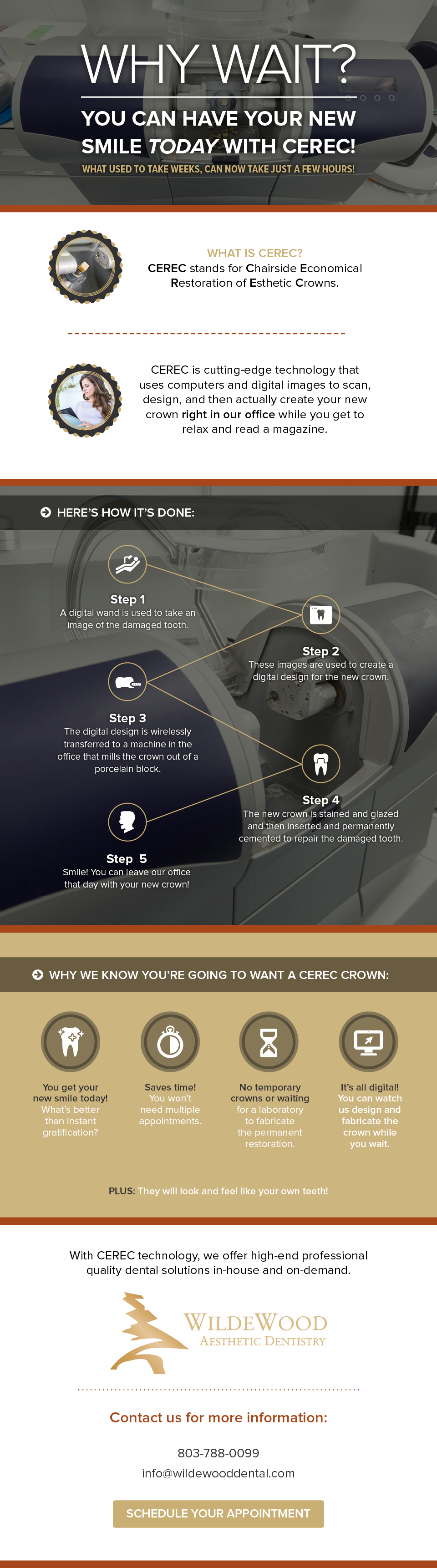 CEREC single-visit crowns infographic