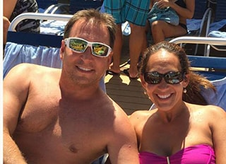 Dr. Griffin and his wife at the beach