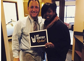 Dr. Griffin, a cosmetic dentist in Columbia, SC and an actual patient.