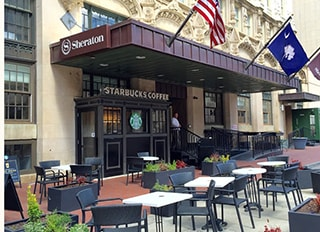 A Starbucks in Columbia SC, where Dr Griffin and his dental team are located
