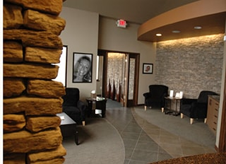 The lobby of WildeWood Aesthetic Dentistry. This dentist offers cosmetic dentistry in Columbia, SC