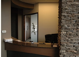 The front desk at WildeWood Aesthetic Dentistry