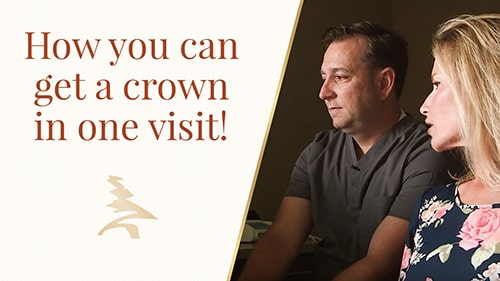 How you can get a crown in one visit!